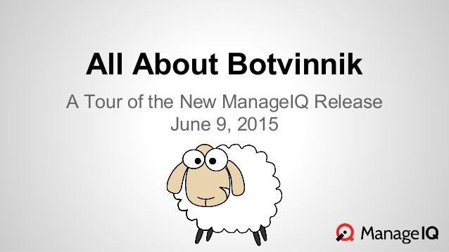 All About Botvinnik A Tour of the New ManageIQ Release June 9, 2015