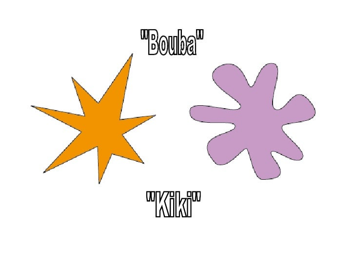 the bouba kiki effect and language Are there certain human sounds with meanings that can cross the language  in the bouba-kiki effect,  and that you want to know if the picture is bouba or kiki.