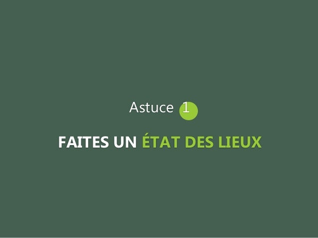 Astuce 6 METTEZ A JOUR VOS INFORMATIONS