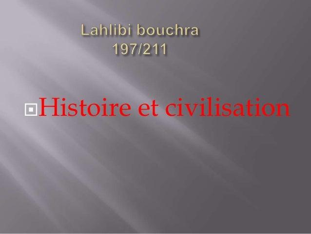 Histoire et civilisation