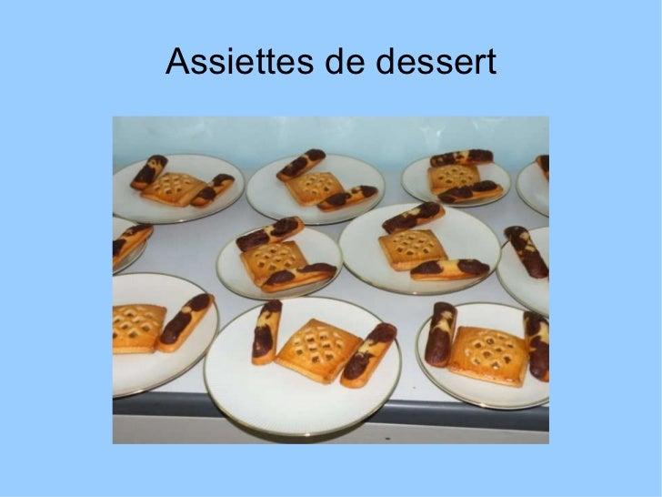 Assiettes de dessert