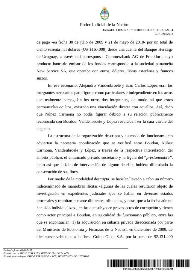 Arresto Del Ex Vicepresidente De Argentina Amado Boudou