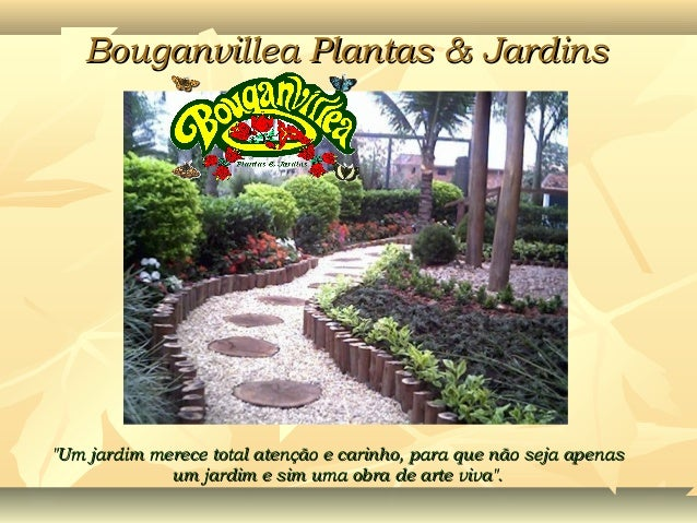 """Bouganvillea Plantas & JardinsBouganvillea Plantas & Jardins""""Um jardim merece total atenção e carinho, para que não seja a..."""