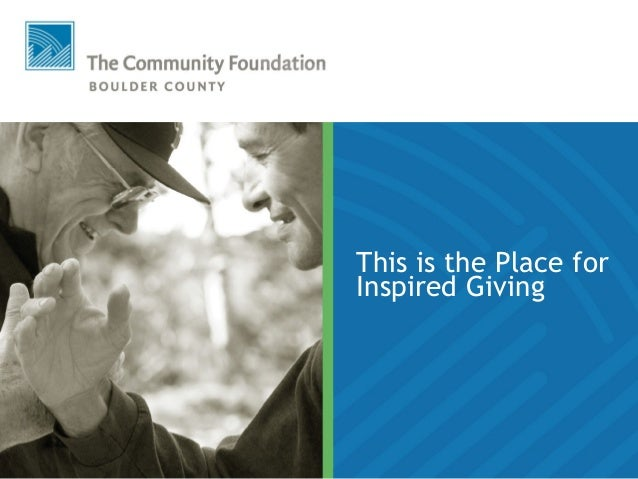 This is the Place for Inspired Giving