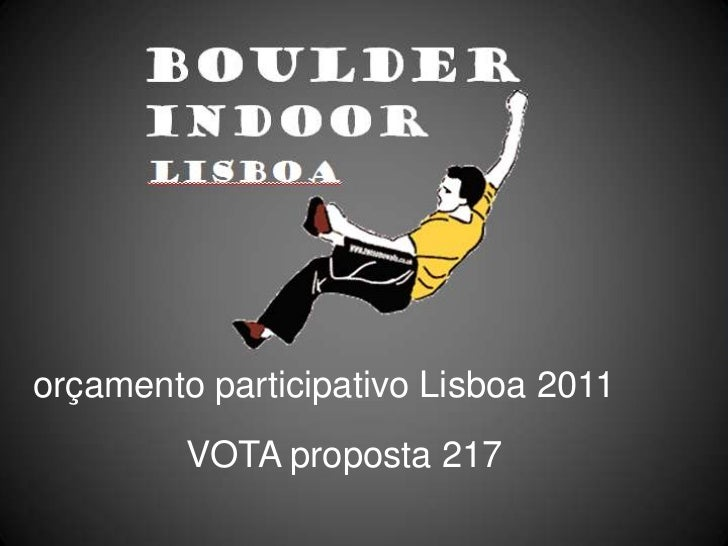 orçamentoparticipativoLisboa 2011<br />VOTA proposta217<br />