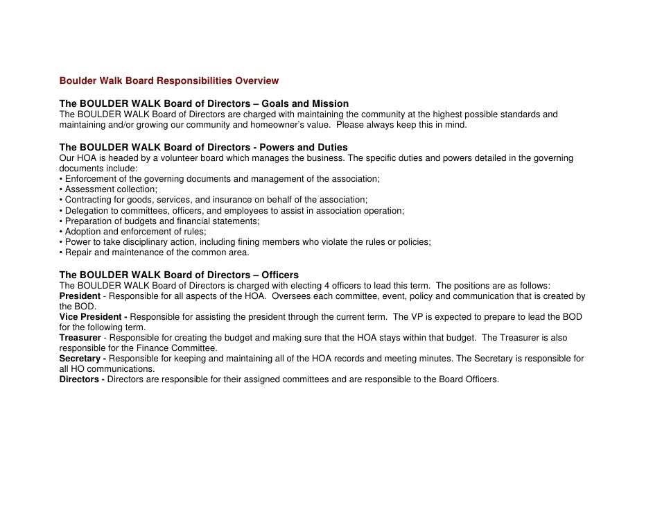 Nonprofit Board Welcome Info. Packet Example