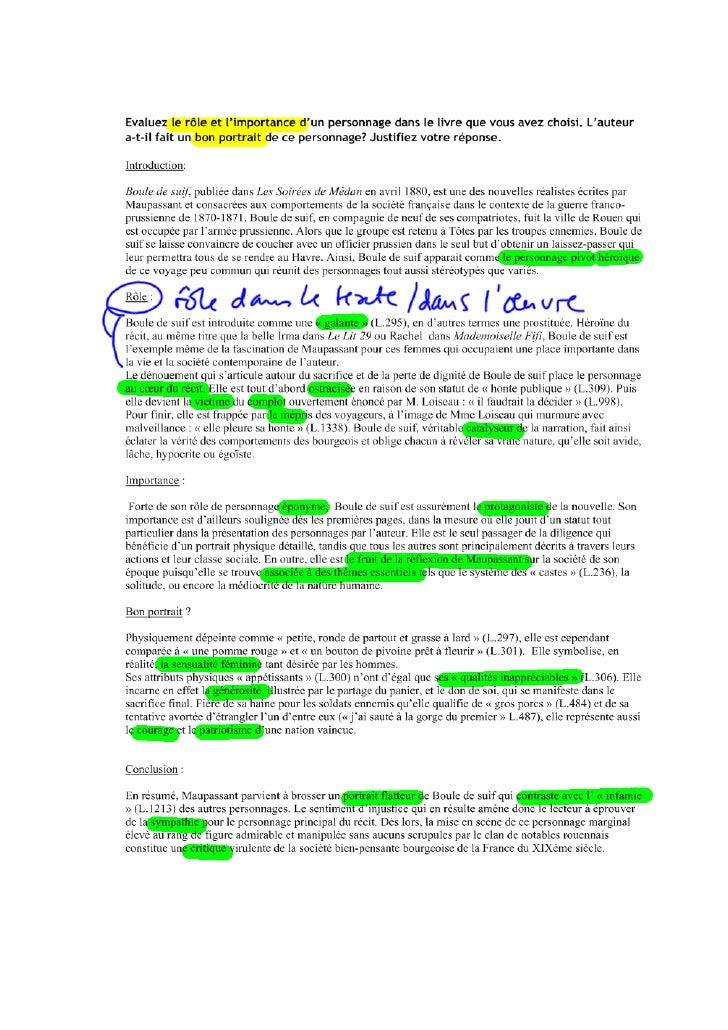 essay questions on boule de suif Writing mla style essay dissertation explicative sur boule de suif essay on imperialism how can i write application.