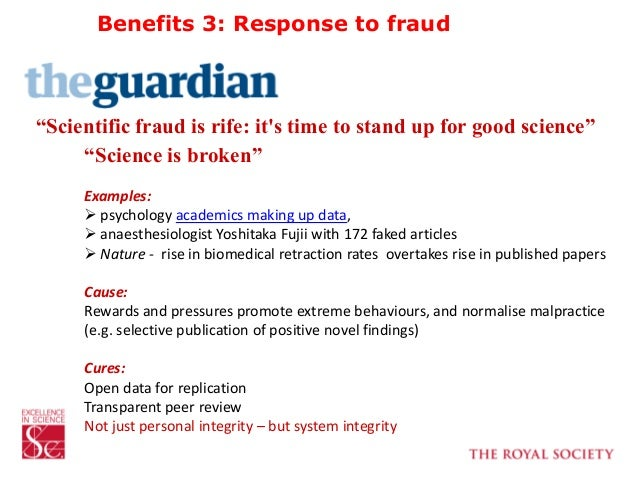 """""""Scientific fraud is rife: it's time to stand up for good science"""" """"Science is broken"""" Examples:  psychology academics ma..."""