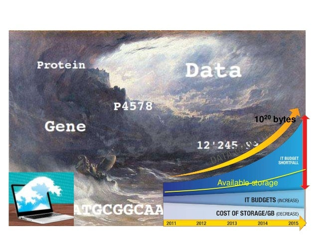 Problems & opportunities in the data deluge 1020 bytes Available storage