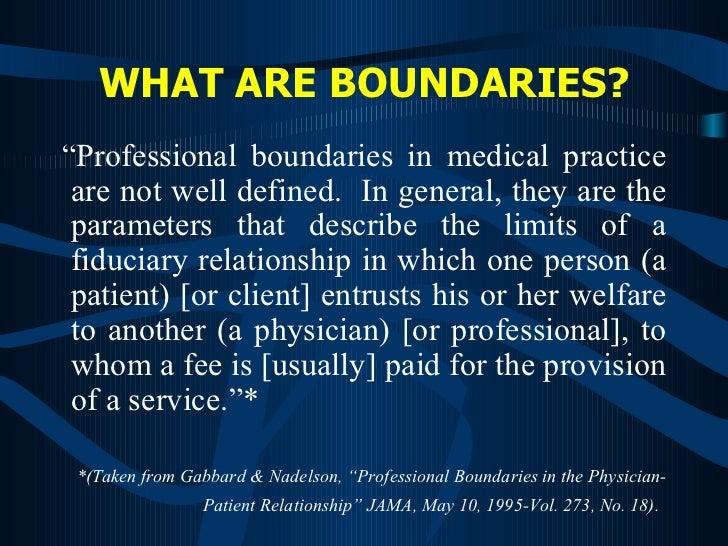 patient doctor relationship boundaries for teens