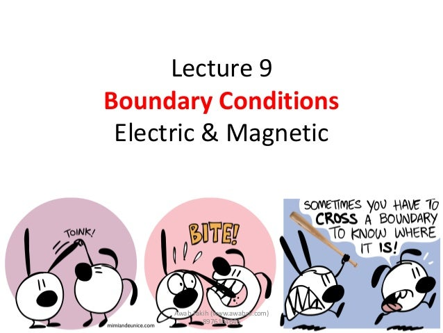 Lecture 9 Boundary Conditions Electric & Magnetic Awab Fakih (www.awabsir.com) 8976104646