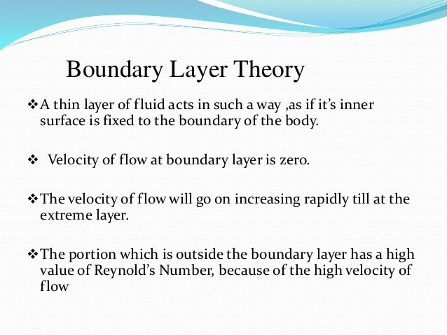 A Seminar Topic On Boundary Layer
