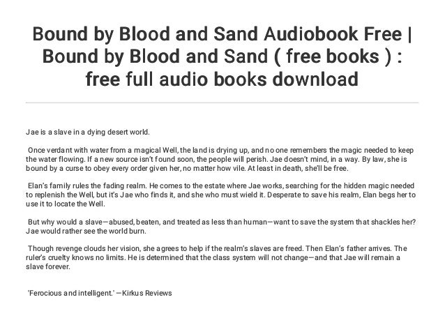 Bound by Blood and Sand Audiobook Free   Bound by Blood and Sand ( f…