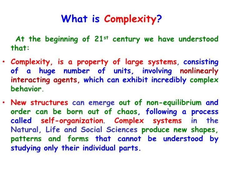 Lead in Complexity