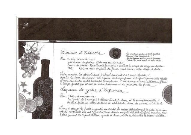 Bouquin Recette Liqueurs Et Vins