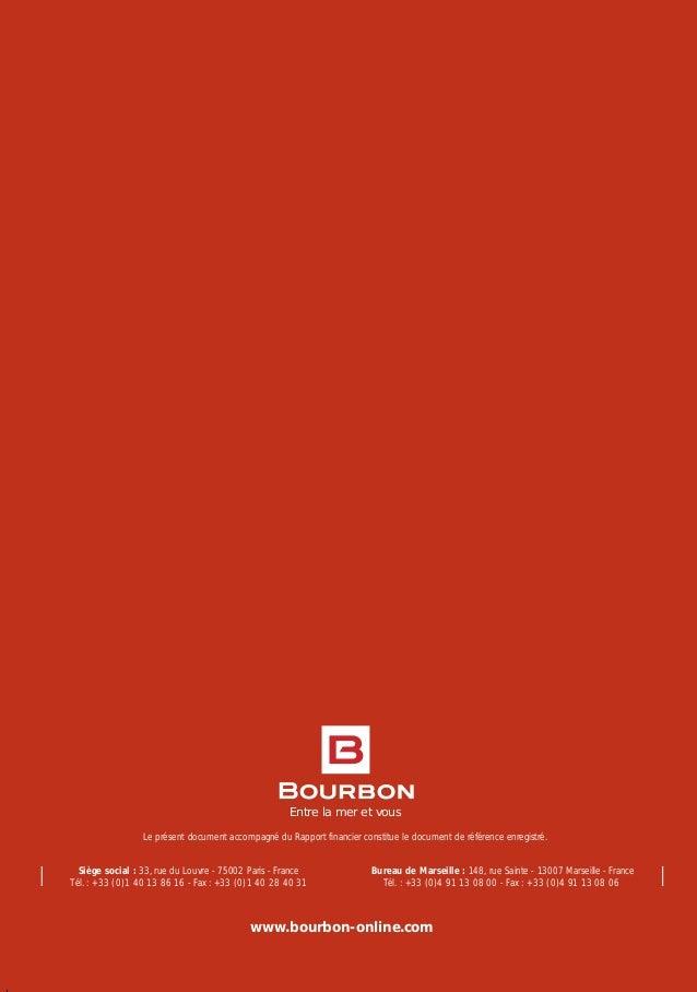 Bourbon document de r f rence 2006 for Chambre de commerce marseille rue sainte victoire