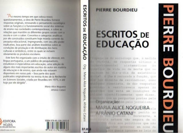 Bourdieu, p. escritos da educação