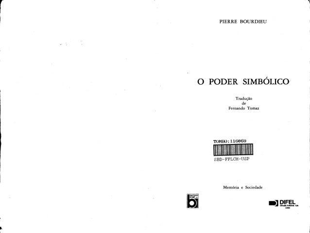 Bourdieu, p. o poder simbólico