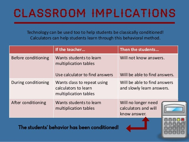 Scale Up Classroom Design And Use Can Facilitate Learning ~ Classical conditioning in the classroom
