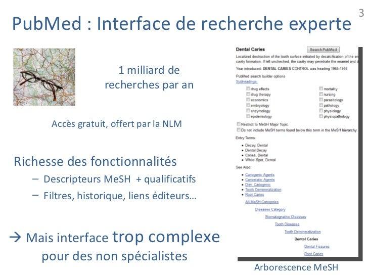 3PubMed : Interface de recherche experte                      1 milliard de                   recherches par an       Accè...