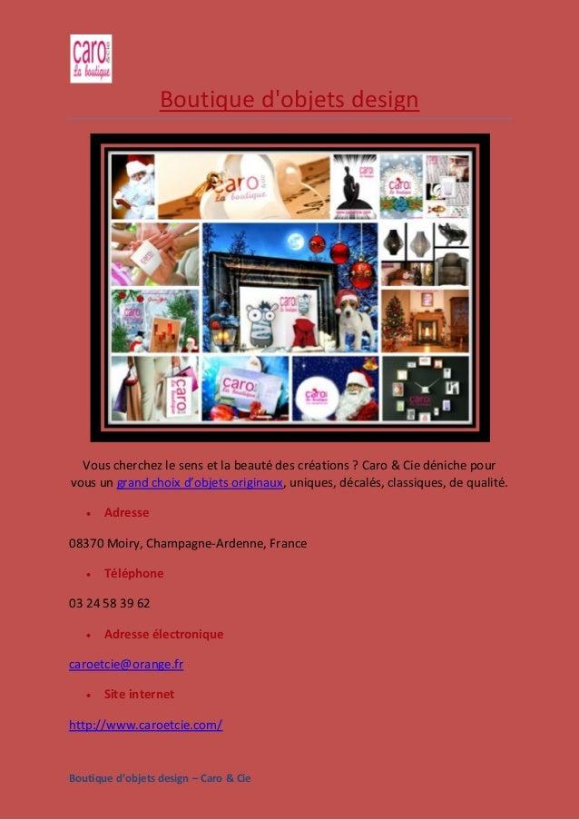 Boutique d'objets design – Caro & Cie Boutique d'objets design Vous cherchez le sens et la beauté des créations ? Caro & C...