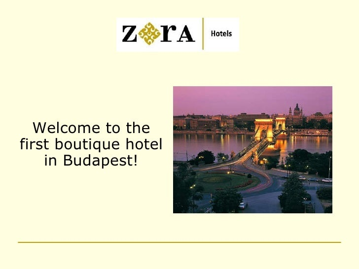 Welcome to the first boutique hotel in Budapest!