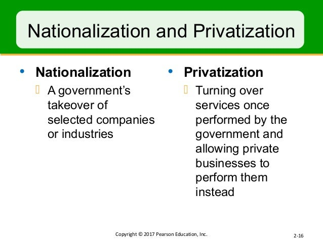 nationalization over privatization Definition of nationalization in the (see privatization) industries or individual firms may be taken over because they are making losses and need to be.