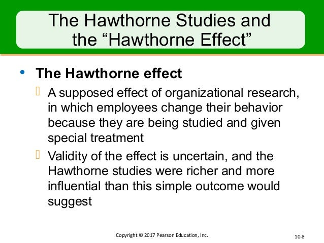impact the hawthorne studies had on the study of organizational behavior Does your behavior change when you think people are watching this lesson describes the purpose and findings of the hawthorne studies and their.