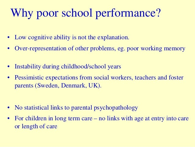 Low Academic Expectations And Poor >> Making A Difference Education And Health Of Children In Out Of Hom
