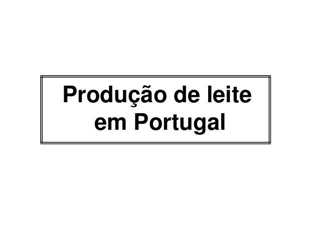 Produção de leite   em Portugal