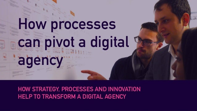 How processes can pivot a digital agency HOW STRATEGY, PROCESSES AND INNOVATION HELP TO TRANSFORM A DIGITAL AGENCY