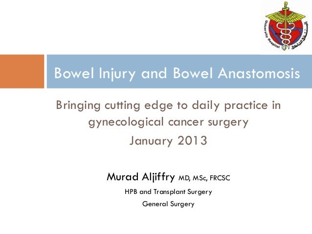 Bringing cutting edge to daily practice in gynecological cancer surgery January 2013 Murad Aljiffry MD, MSc, FRCSC HPB and...