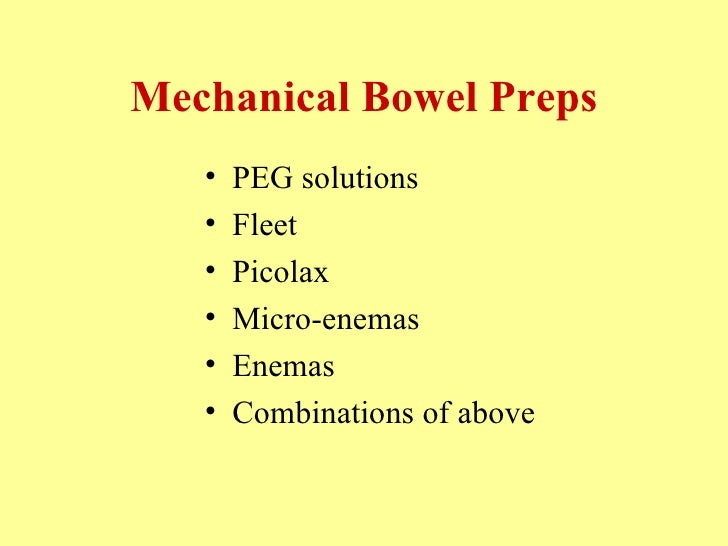 In the 21st Century: What is the role of mechanical bowel