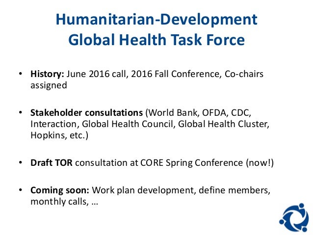 5  Humanitarian Development Global Health Task  Humanitarian Development Global Health Task Force   Bowen and Hartne . Global Goal Task Chair. Home Design Ideas