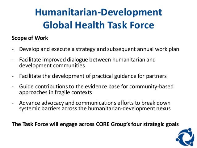 Goal  Humanitarian Development Global Health Task Force   Bowen and Hartne . Global Goal Task Chair. Home Design Ideas