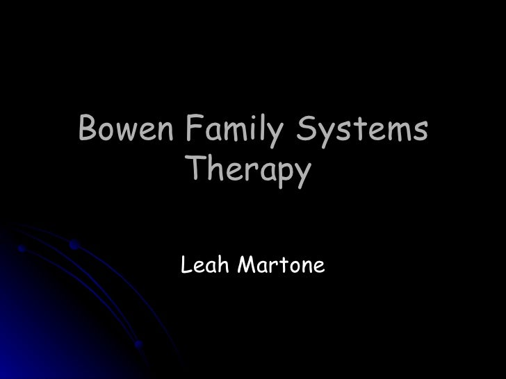 Family systems therapy essay