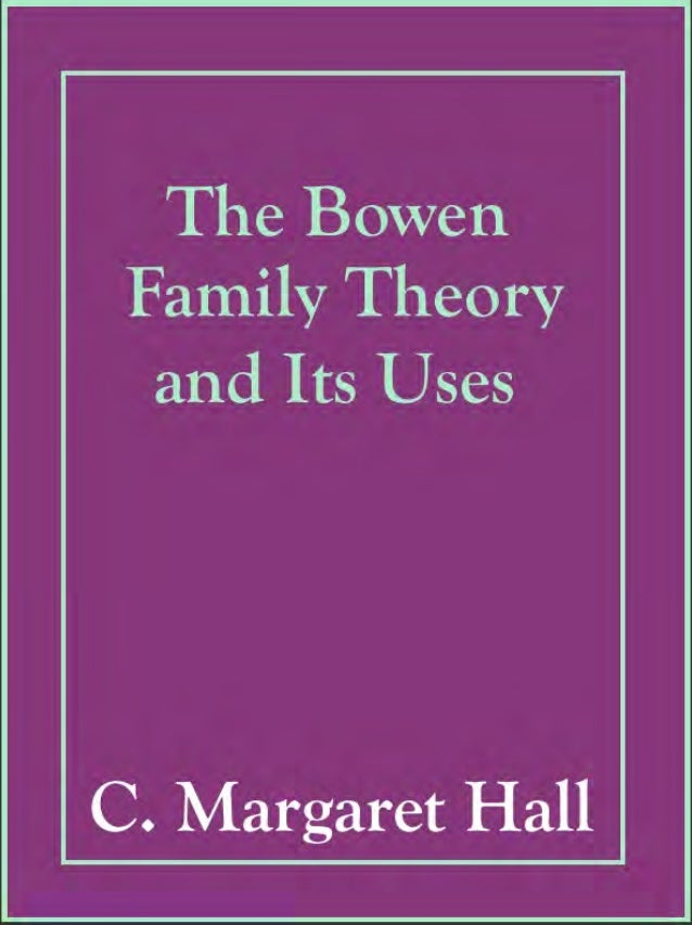 The Bowen Family Theory and Its Uses C. Margaret Hall International Psychotherapy Institute
