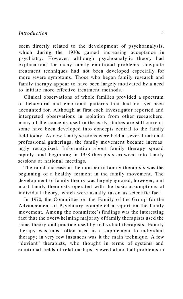 6 The Bowen Family Theory and Its Uses the family context and consulted with several family members during the course of t...