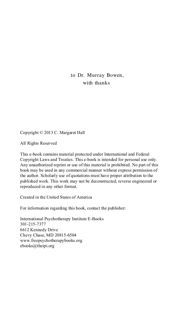 CONTENTS Foreword by Michael E. Kerr, M.D. iv Preface xi PART I THEORY Chapter 1 Theoretical Perspectives 15 Chapter 2 Fam...