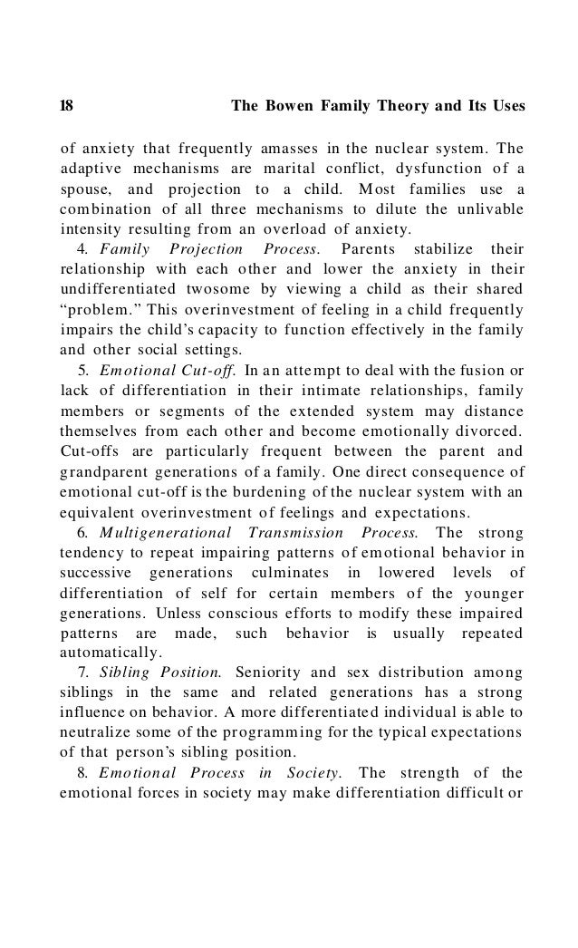 Theoretical Perspectives 21 sociological overemphasis on the importance of interaction in nuclear families. Family Systems...