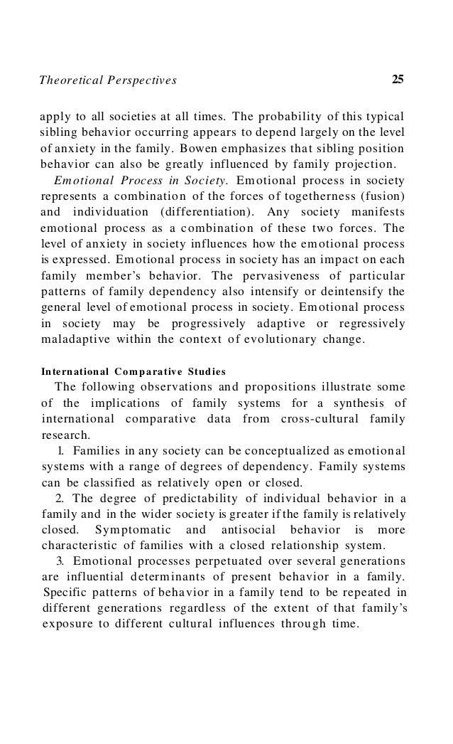FAMILY PROCESSES Chapter 2 To more clearly conceptualize family processes as an independent variable in the total social c...