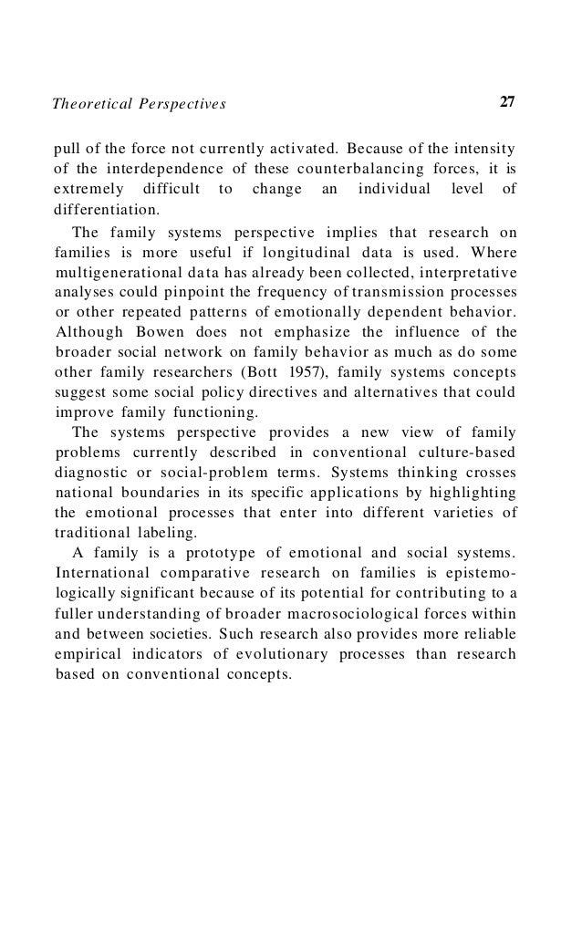 Family Processes 31 nonfamily behavior may be linked. Some of these linkages may be described in terms of the family syste...