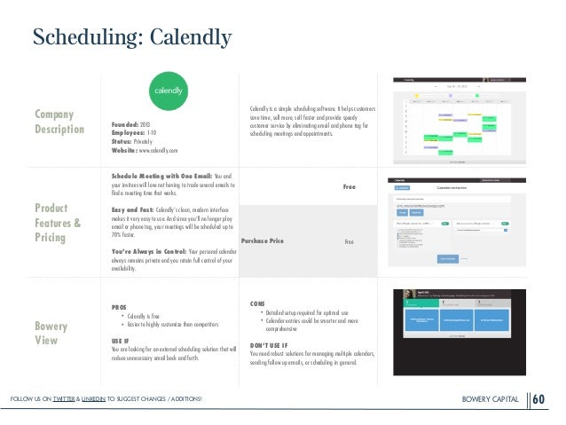 BOWERY CAPITAL Scheduling: Calendly 60 Company Description ! ! ! ! Founded: 2013 Employees: 1-10 Status: Privately Website...