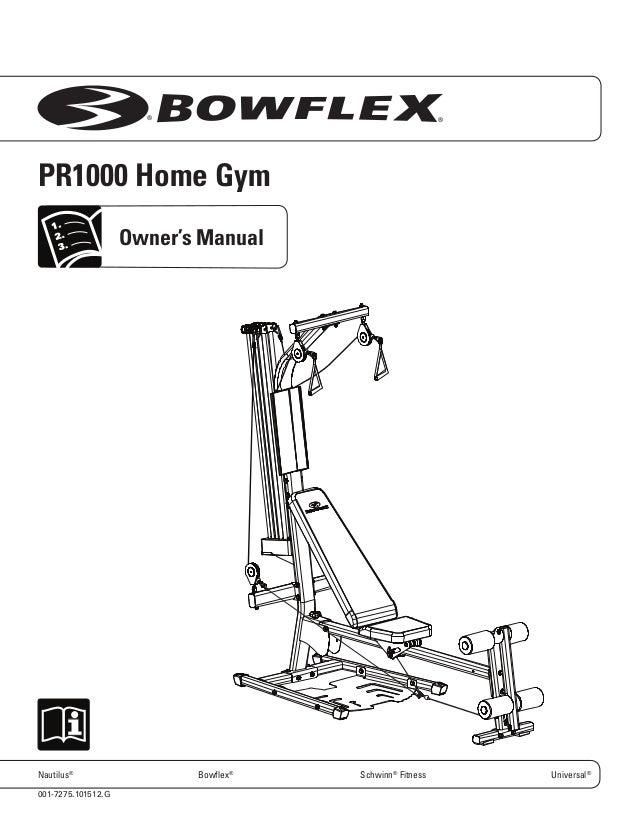 Bowflex schwinn force manual.