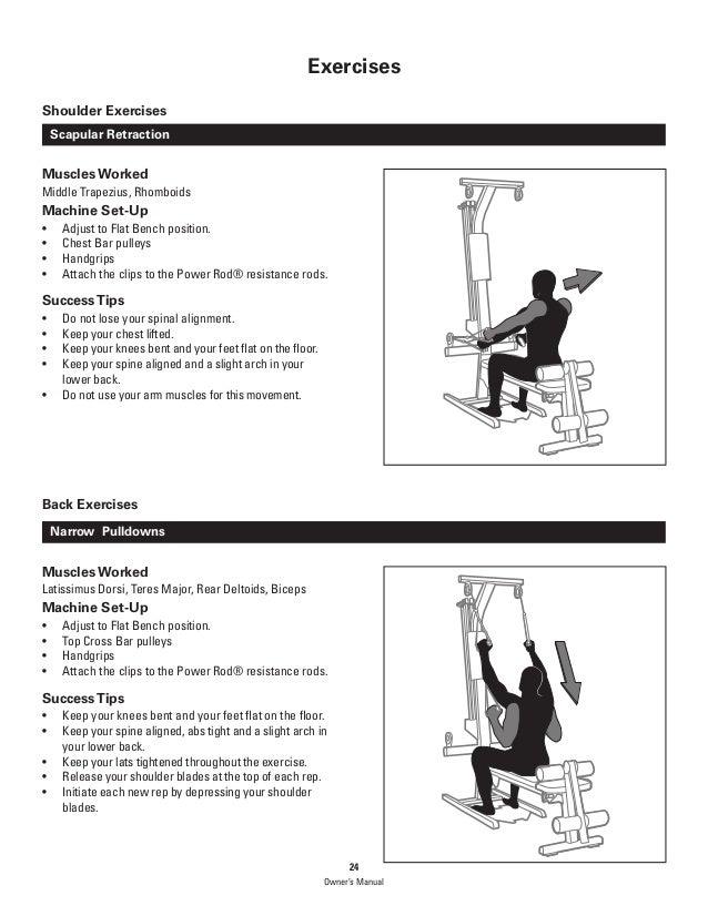 Bowflex PR1000 Home Gym Exercises & Manual
