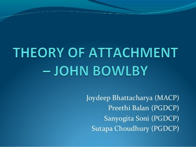 theory of attachment Identifying attachment relationships 1 attachment theory1: a theory of emotions and a theory of relationships attachment theory is an attempt to explain how we meet the need to be connected to others.