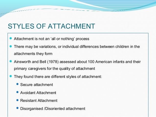 Examples List on Mary Ainsworth - Attachment Theory