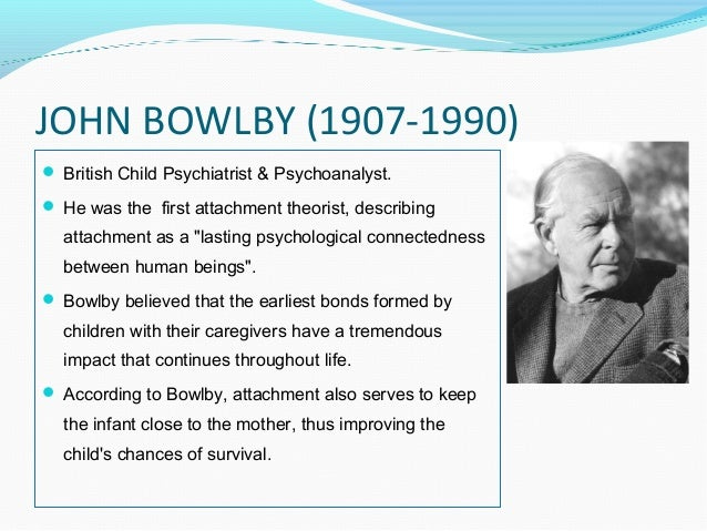 bowlby s attachment theory The bowlby-ainsworth attachment theory - volume 1 issue 3 - mary d salter ainsworth.