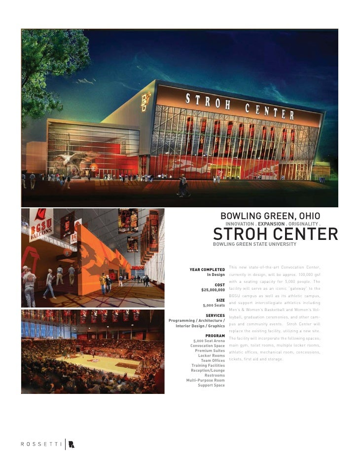 BOWLING GREEN, OHIO                                INNOVATION . EXPANSION . ORIGINALITY .                          STROH C...