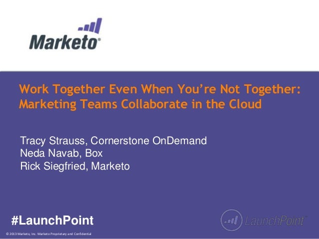 Work Together Even When You're Not Together: Marketing Collaboration in the Cloud